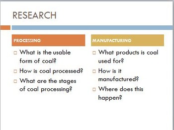 Year 8 Science - Processing, Manufacturing and Environmental Impacts