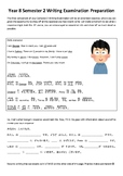 Year 8 Semester 2 Japanese Writing Examination Preparation