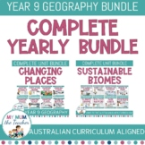 Year 9 Geography BUNDLE - Sustainable Biomes & Changing Places