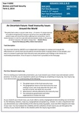 Year 9 Geography Food Security Inquiry Project