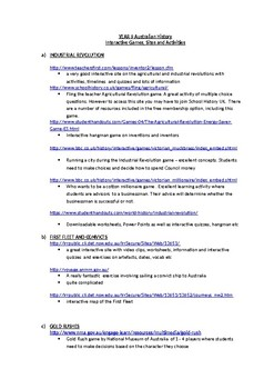 Year 9 History (Australia) Interactive Activities, games and worksheets