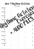Year 9 Rhythmic Dictation Exercises + Audio Files