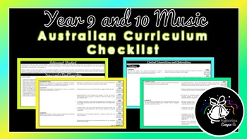 Year 9 and 10 Music | Australian Curriculum Checklist