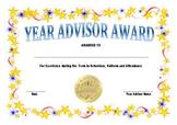 Year Advisor Award
