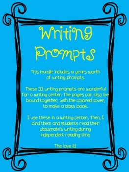 Year Around Writing Prompts