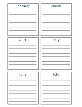 Year-At-A-Glance Planner Pages - Editable
