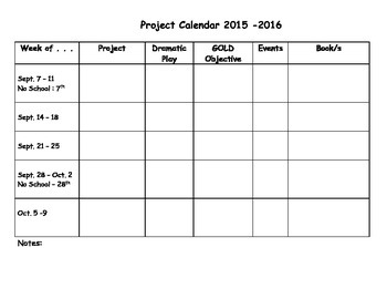 Year At A Glance - Planning Form