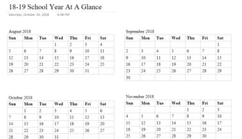 Year At A Glance and Monthly Pacing OneNote TAB