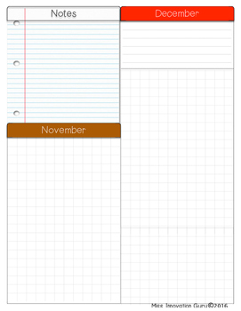 Year At a Glance- Teacher Planner Pages
