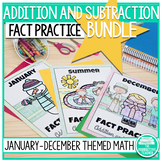Addition and Subtraction Math Facts Worksheets: Year Bundle