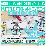 Addition, Subtraction, Multiplication, and Division Math F