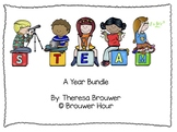 Year Bundle Kindergarten STEAM Centers or Whole Group