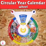 Calendar Wheel Seasons, Months, Days of the Week Montessori