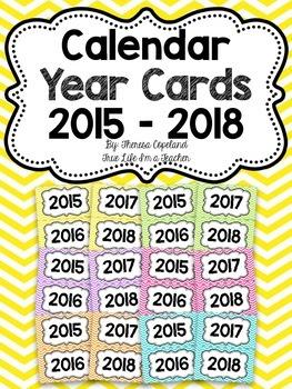 Calendar Year Cards {Chevron Brights}