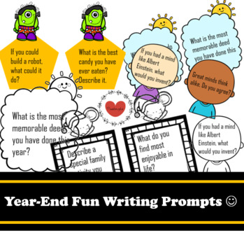 Year-End Fun Writing Prompts