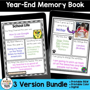 Year End Reflection Booklet