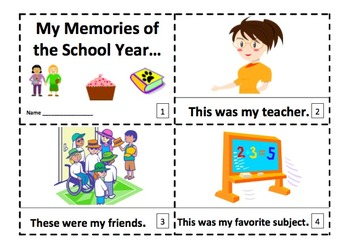 Year End School Memories 2 Early Reader Booklets
