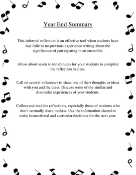 Year End Summary Assessment