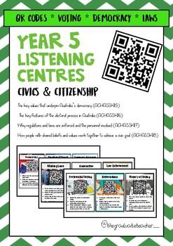 Year 5 ACARA Civicis & Citizenship QR Codes Listening Centre
