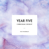 Year Five - Australian Curriculum Checklist