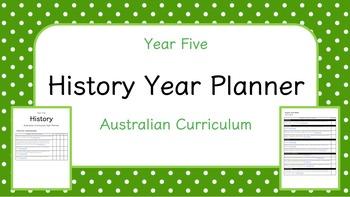 Year Five - History Year Planner (Australian Curriculum)
