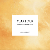 Year Four - Australian Curriculum Checklist