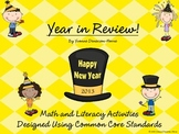 Year In Review! Math & Literacy Activities Designed Using