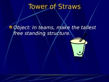 Year Intro Activity: Tower of Straws