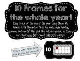 Year Long 10s Frames Black and White
