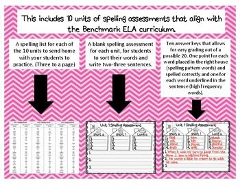 Year Long 2nd Grade Spelling Assessment