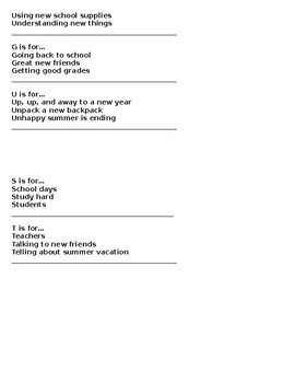 Year-Long Acrostic Poetry Packet for Second Grade