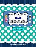 Year Long Activities: 30 Graphing Picture & Text Sort Activities *+ Answer Keys!