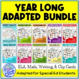 BUNDLE of Year Long Adapted Academics- 10 Monthly Themed Units for SpEd or Elem