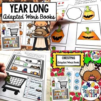 Year Long Adapted Work Folders Growing Bundle
