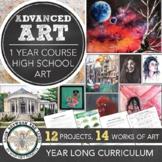Year Long Advanced High School Art or Semester AP Art Assignments Curriculum