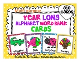 Year-Long Alphabet Word Bank Cards