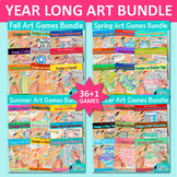 Year Long Art Games Bundle: Holiday and Seasonal Art Sub Plans, Writing Prompts