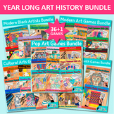 Year Long Art History Games Bundle: 37 Art Lessons, Elemen