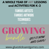 Year Long Art Lesson Plans for Early Elem. (based on Core