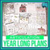 Articulation Plans & Materials For The Entire School Year!