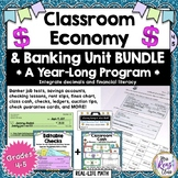 Classroom Economy Materials & Banking Unit Yearlong BUNDLE Program