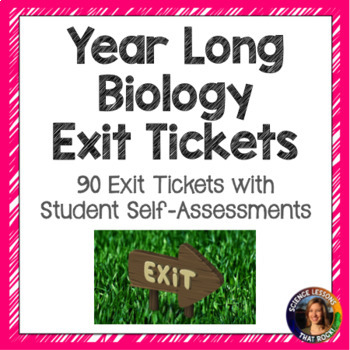 Year Long Biology Exit Tickets