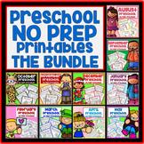Year Long Bundle Preschool Printable Packet NO PREP - All Subjects