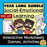 Year Long Bundle Social Emotional Learning Worksheets Game