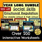 Year Long Bundle Social Skills Emotional Regulation for Mi