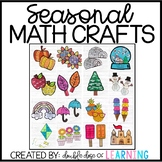 Year-Long Bundle of Seasonal Math crafts for SECOND Grade