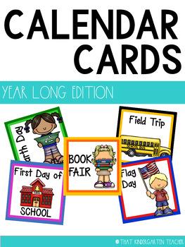 Year Long Calendar Cards