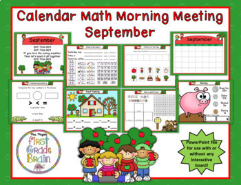 Year Long Calendar Math in PowerPoint - use with/without interactive white board