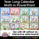 Year Long Calendar Math PowerPoint Bundle -use with/withou