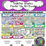 Clip Art all Year Seasonal Bundle 1,000+ Images- Chalkstar